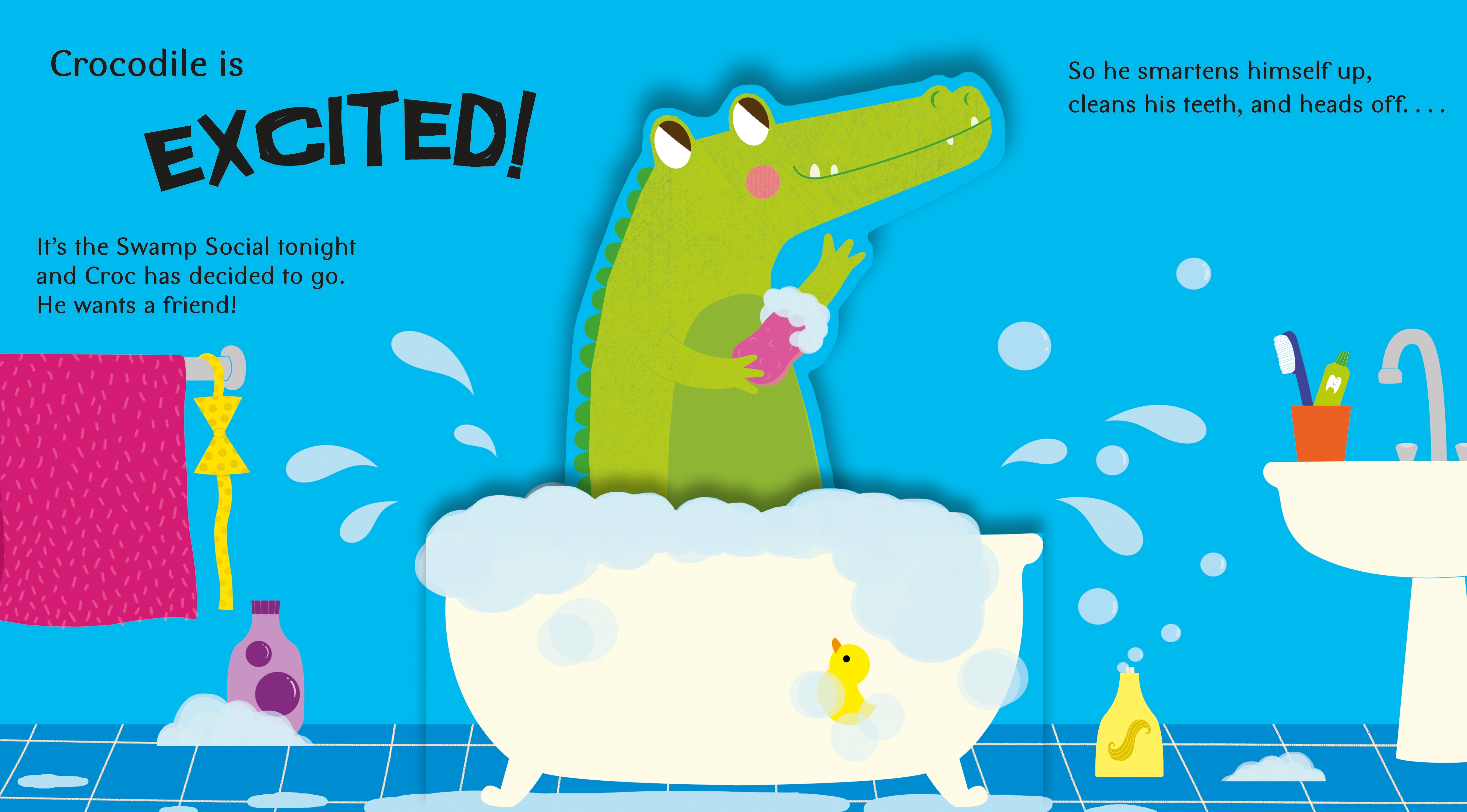Interior book image for Pop-Up Friends: Croc in Love