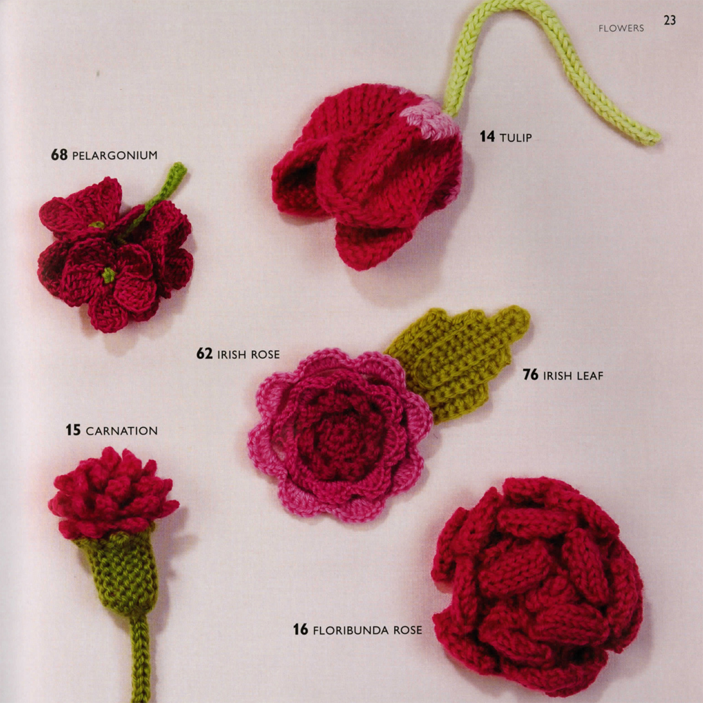 100 Flowers to Knit & Crochet | Lesley Stanfield | Macmillan