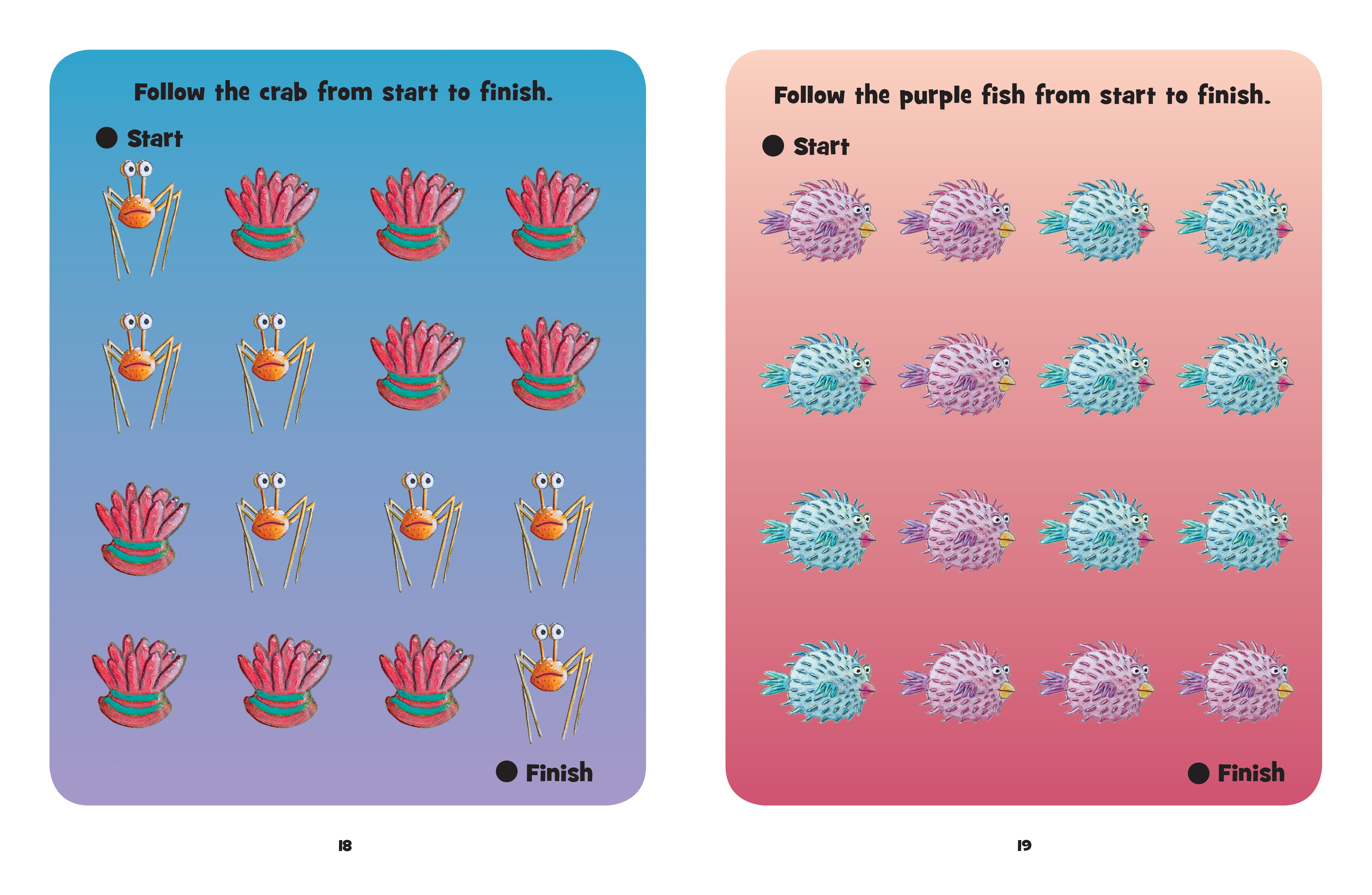 Interior book image for Pout-Pout Fish Wipe Clean Dot to Dot
