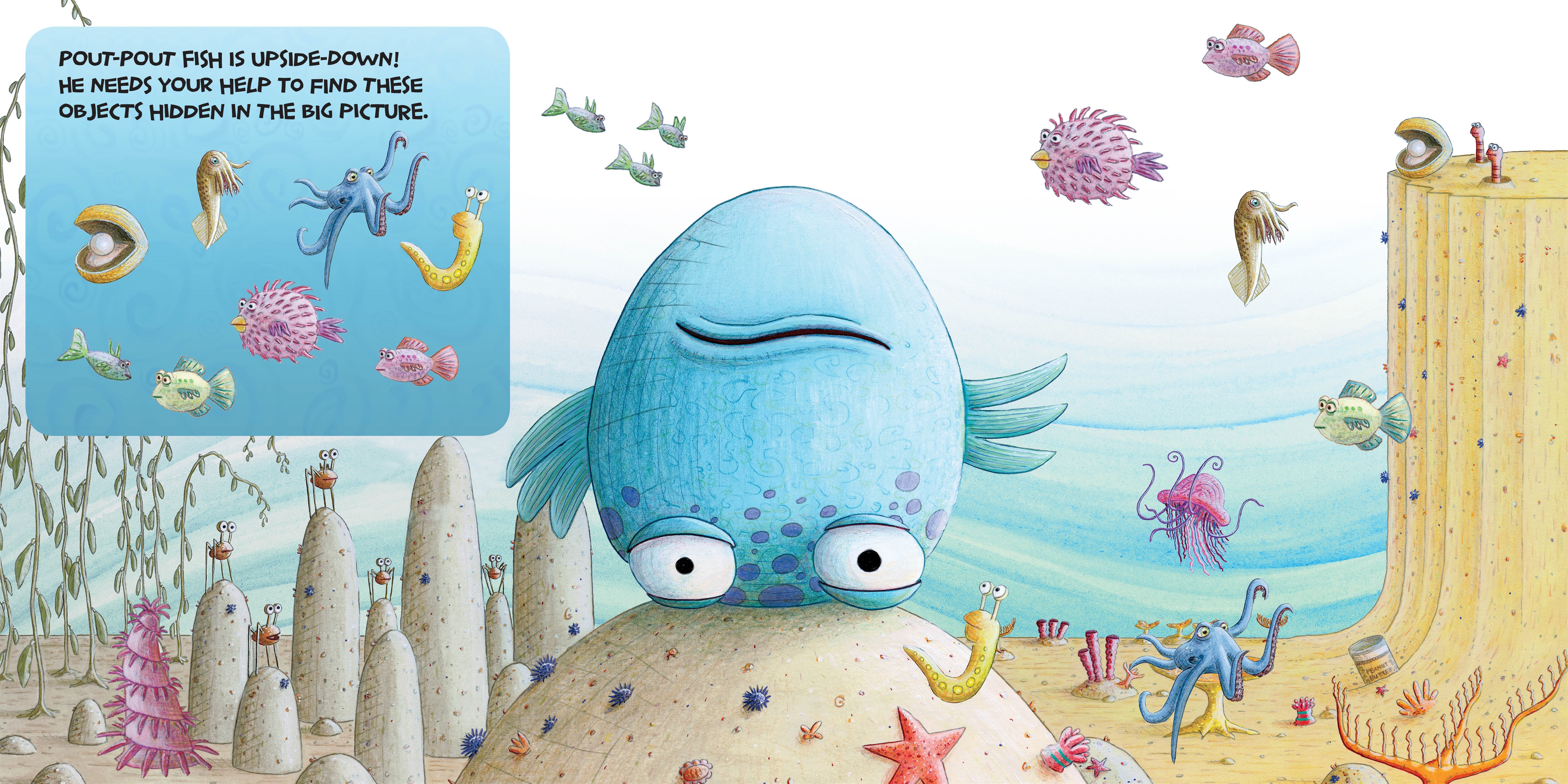 Interior book image for The Pout-Pout Fish Look-and-Find Book