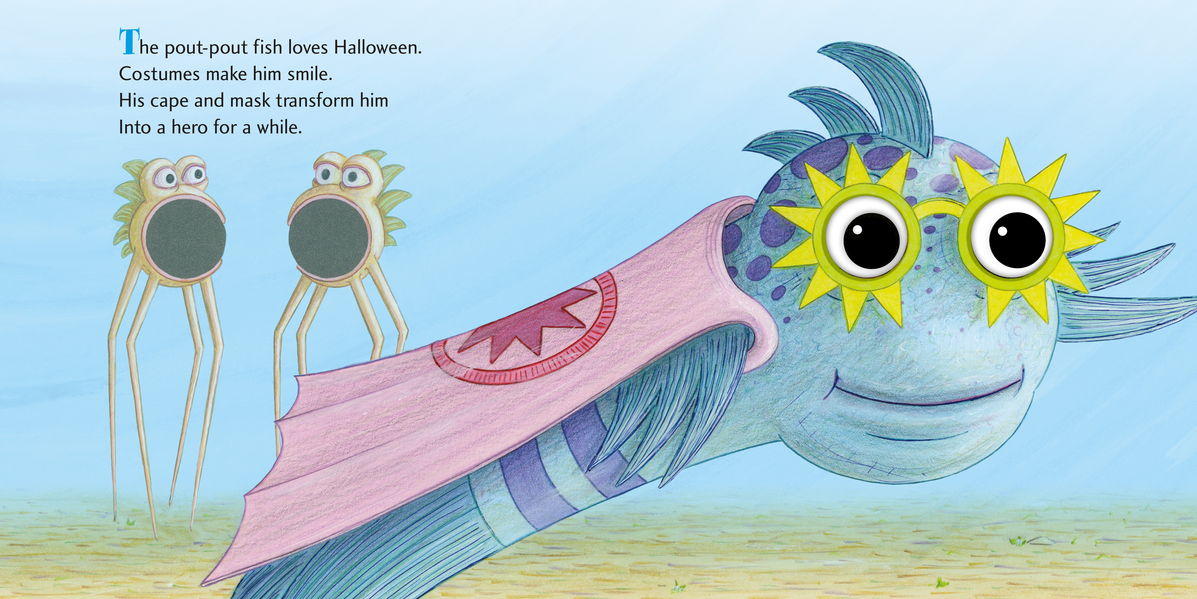 Interior book image for The Pout-Pout Fish Halloween Faces