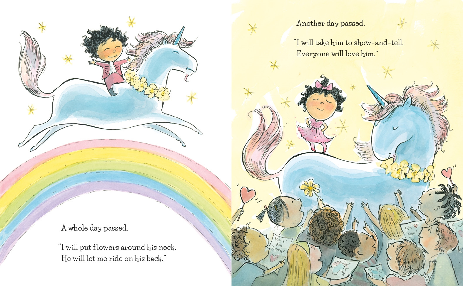Interior book image for A Unicorn Named Sparkle