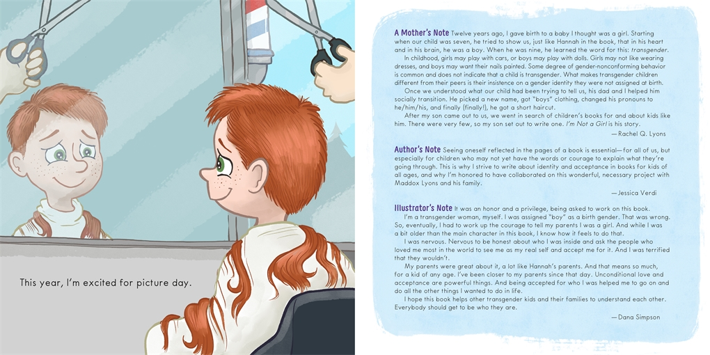 Interior book image for I'm Not a Girl