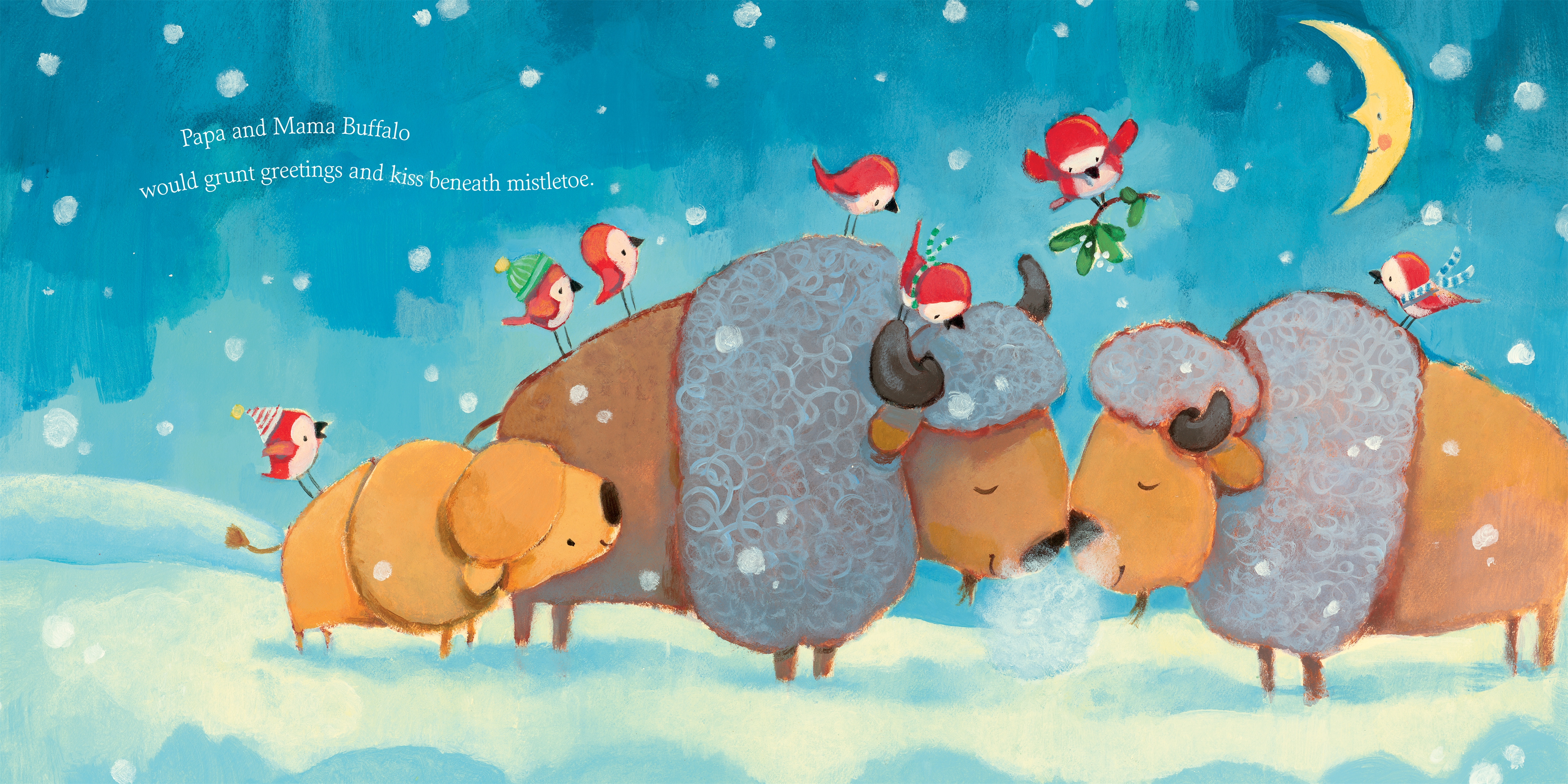 Interior book image for If Animals Celebrated Christmas