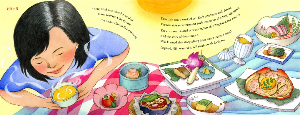 Interior book image for Niki Nakayama: A Chef's Tale in 13 Bites