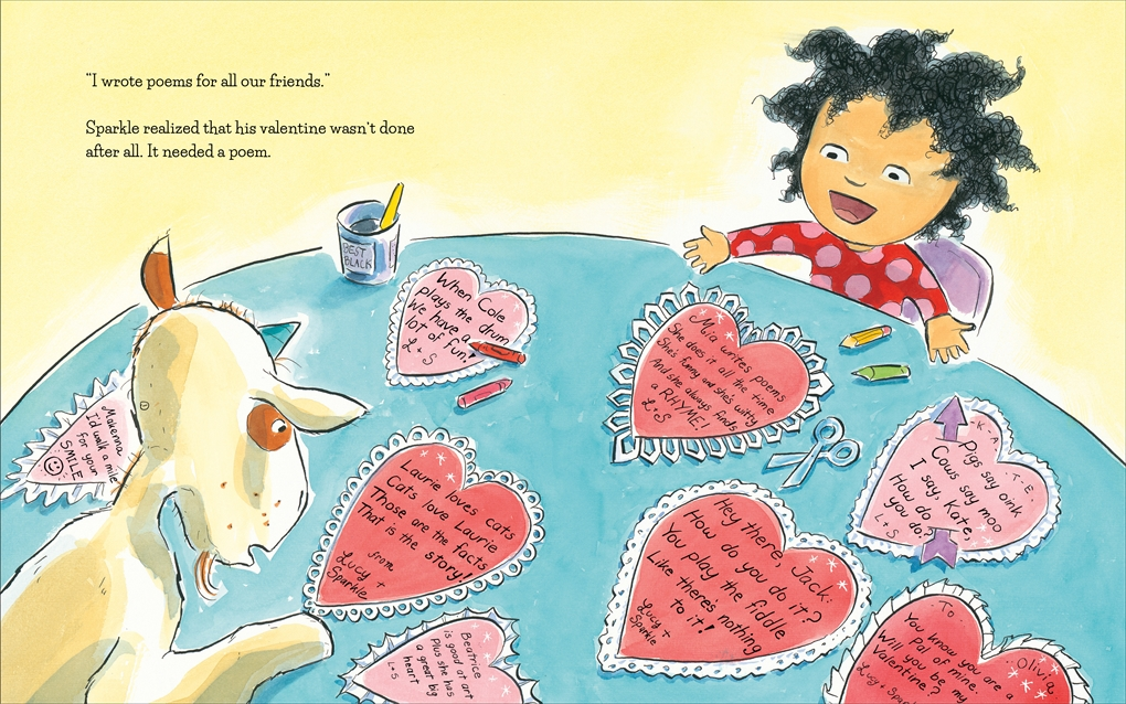 Interior book image for A Unicorn Named Sparkle and the Perfect Valentine