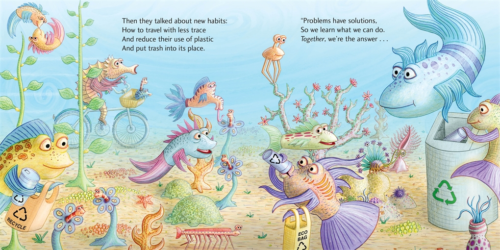 Interior book image for The Pout-Pout Fish Cleans Up the Ocean