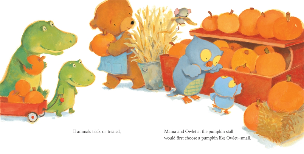Interior book image for If Animals Trick-or-Treated