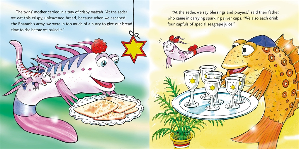 Interior book image for Pout-Pout Fish: Passover Treasure