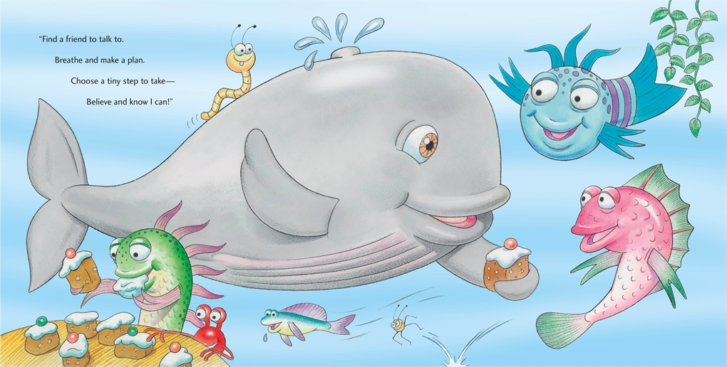 Interior book image for The Pout-Pout Fish and the Worry-Worry Whale