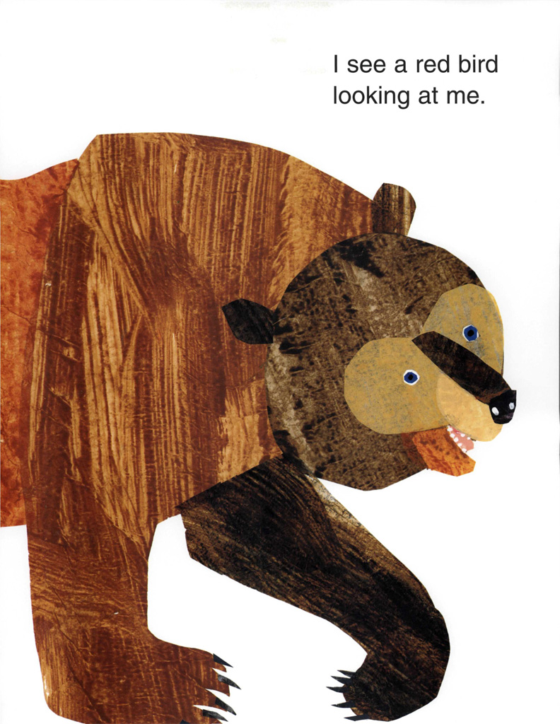Interior book image for Brown Bear, Brown Bear, What Do You See?