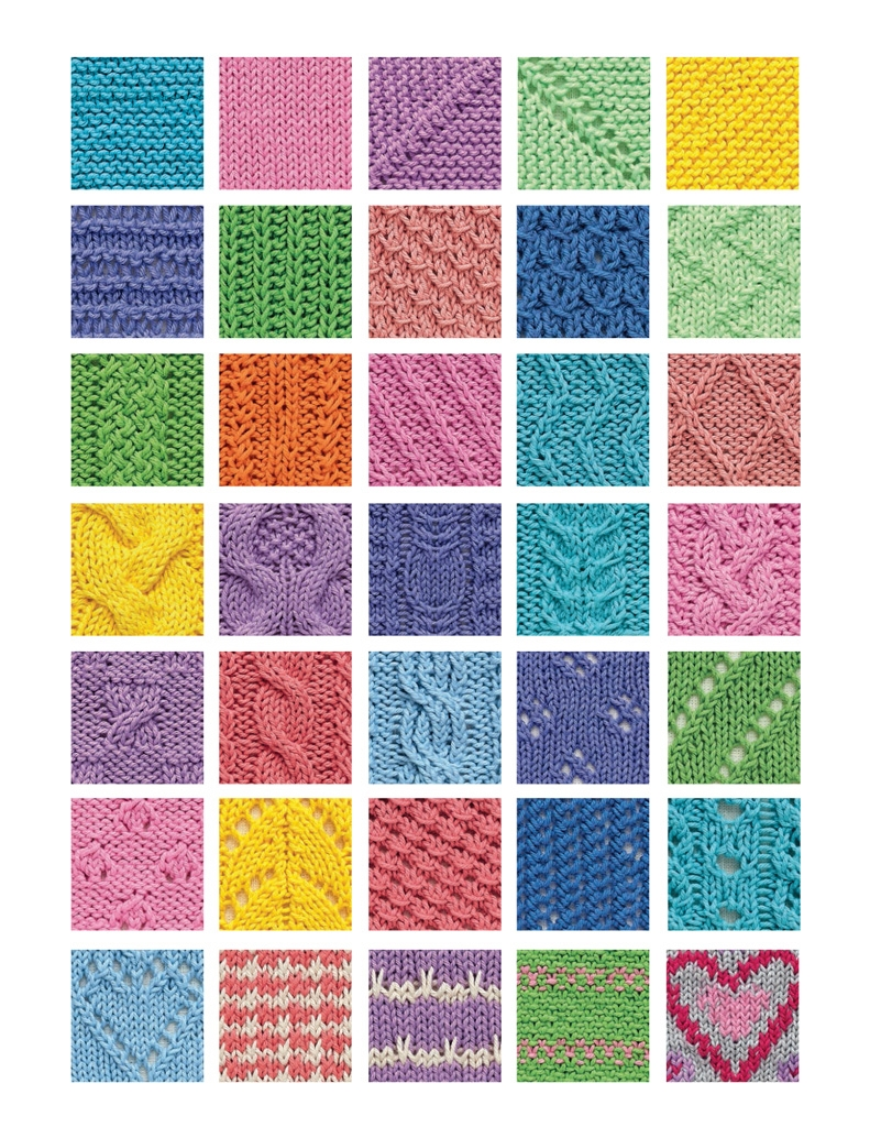 Interior book image for Learn How to Knit with 50 Squares