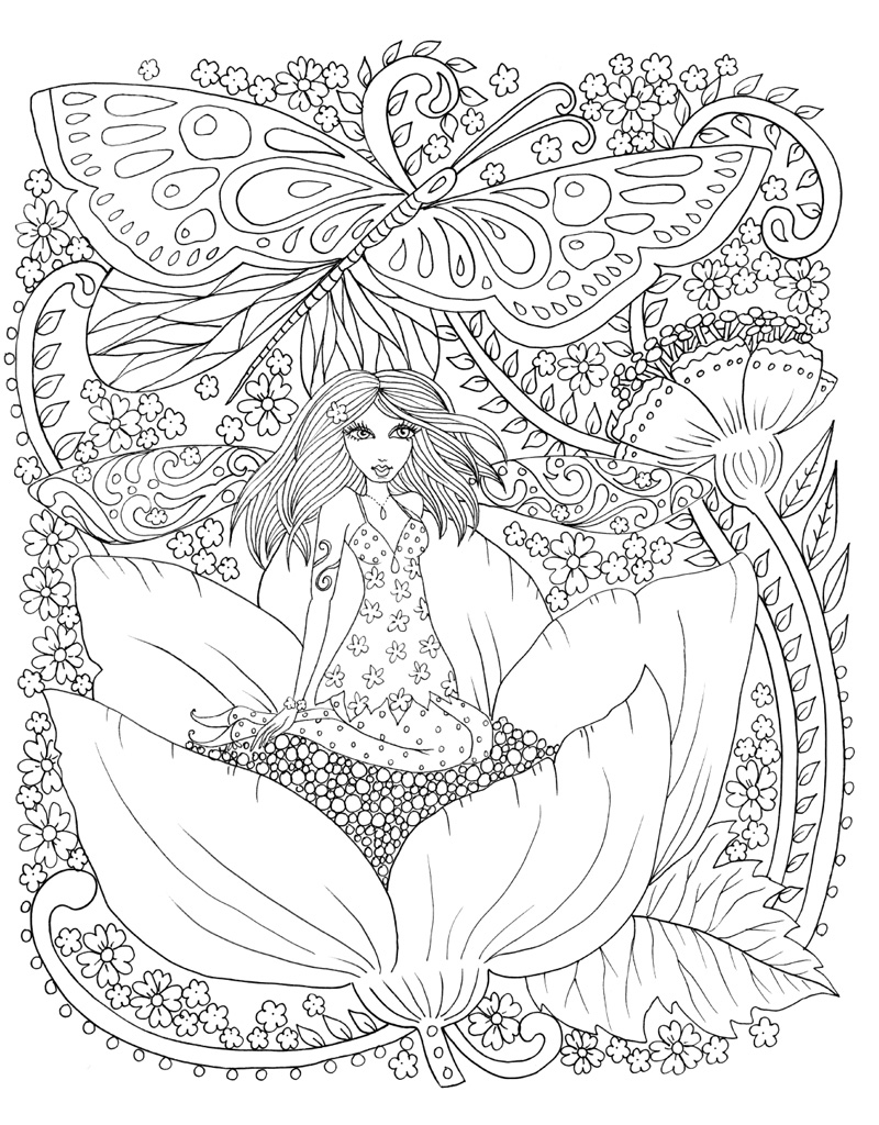 Zendoodle Coloring Magical Fairies Deborah Muller Macmillan