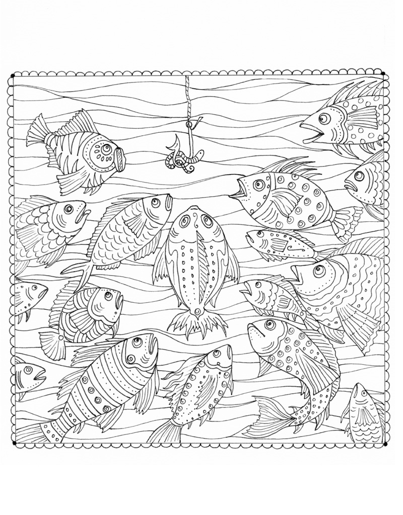 Interior book image for Zendoodle Coloring: Under the Sea