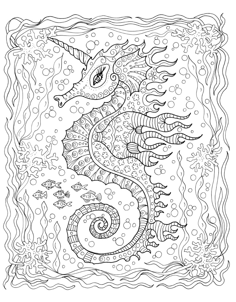 zendoodle coloring under the sea deborah muller macmillan. Black Bedroom Furniture Sets. Home Design Ideas