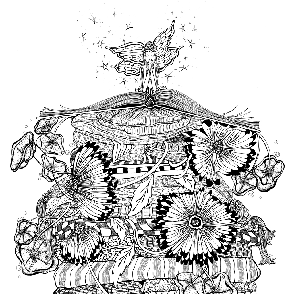 Interior book image for Zendoodle Coloring Presents Fairies in Dreamland