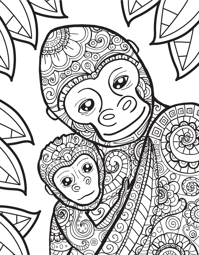 Zendoodle Coloring Baby Animals