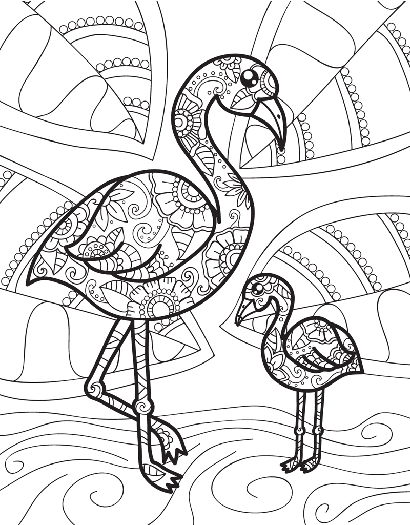 coloring pages flamingo - photo#19