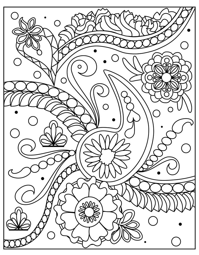Zendoodle coloring big picture calming gardens tish for Zendoodle coloring pages