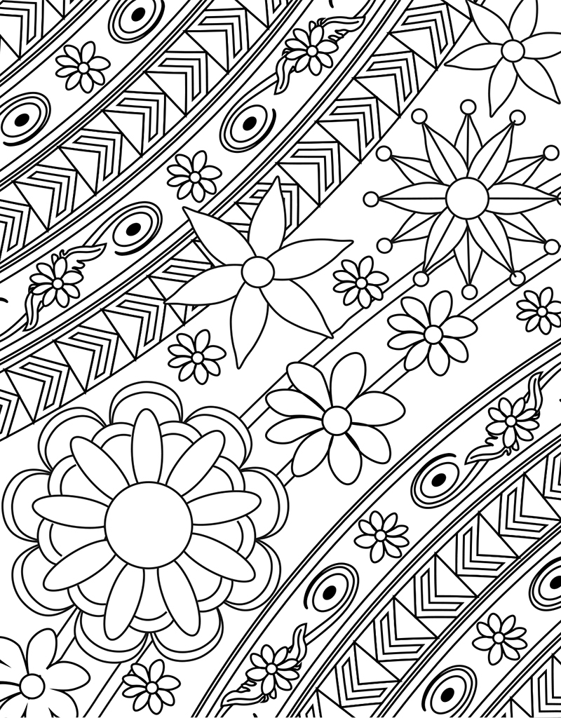 Zendoodle Coloring Big Picture: Calming Gardens | Tish ...