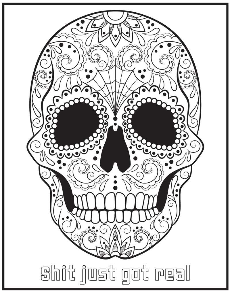 Bad word coloring pages - This Coloring Book Contains A Hilarious Collection Of The Finest Swear Words And Uncouth Sayings All Delicately Wrapped In Beautiful Illustrations To Color