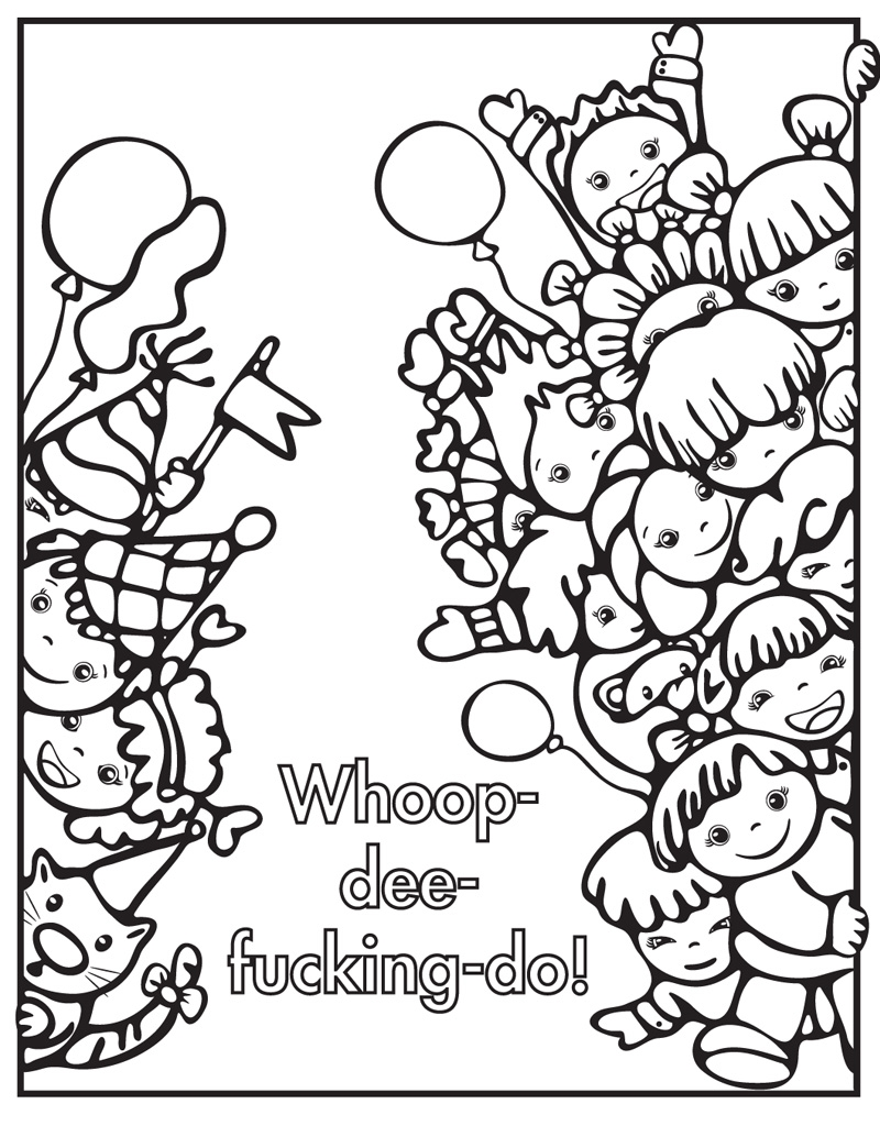Bad word coloring pages - Interior Image