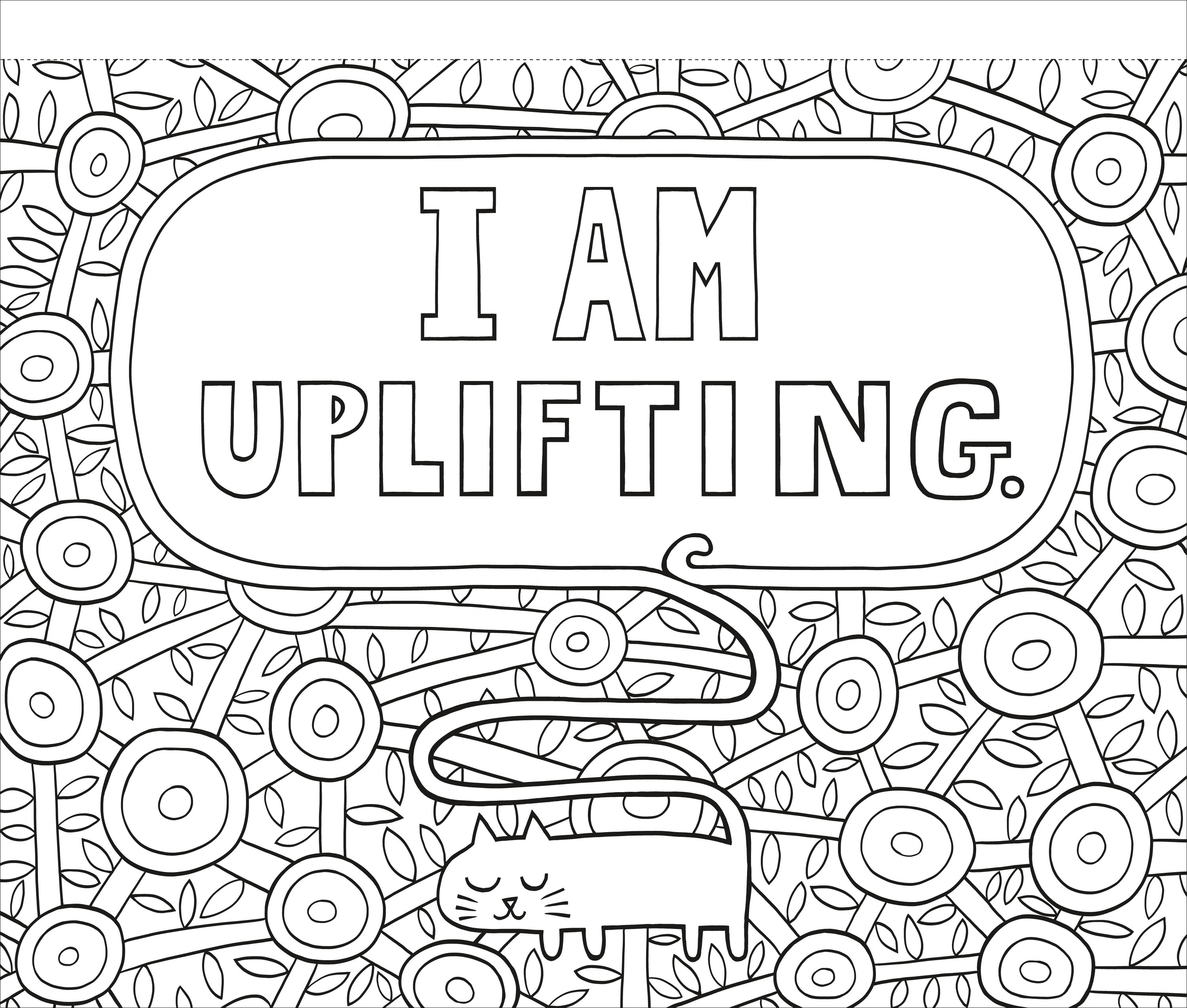 A Coloring Book Of Encouraging Quotes For All Ages That Promotes Creativity And Positive Thinking