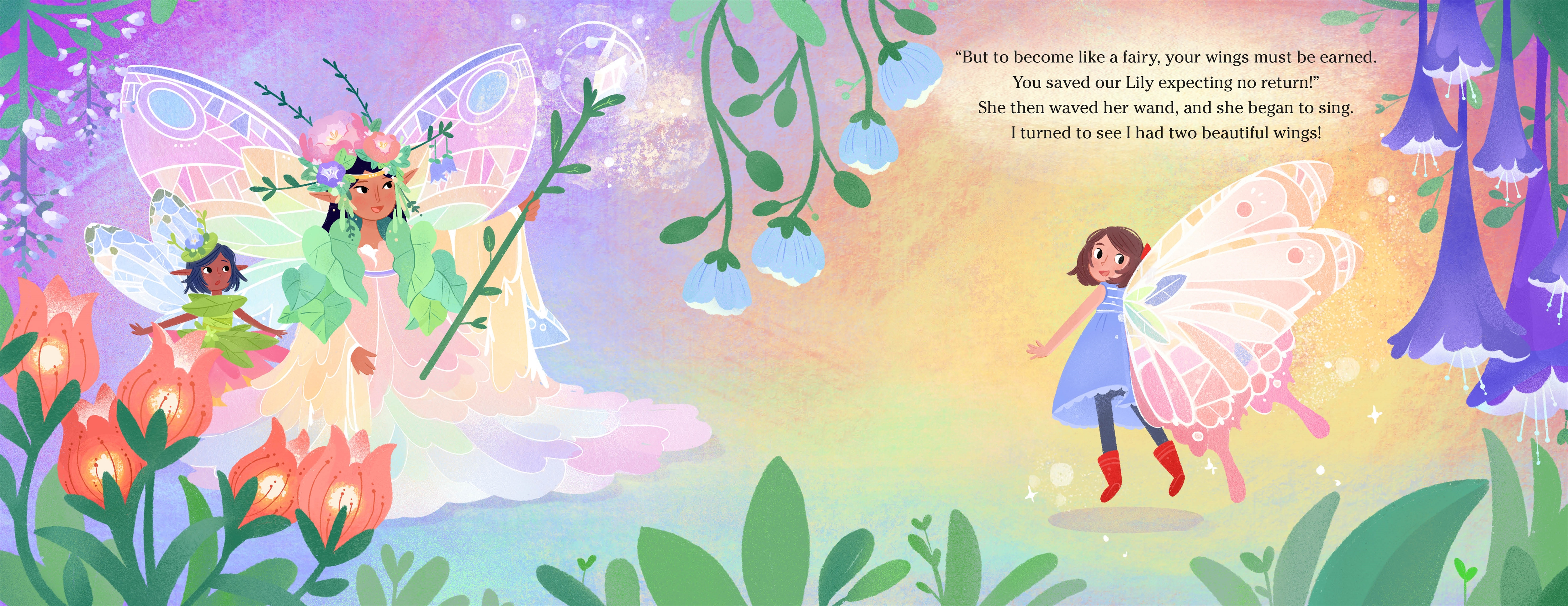 Interior book image for The Fairies of Honeysuckle Hollow