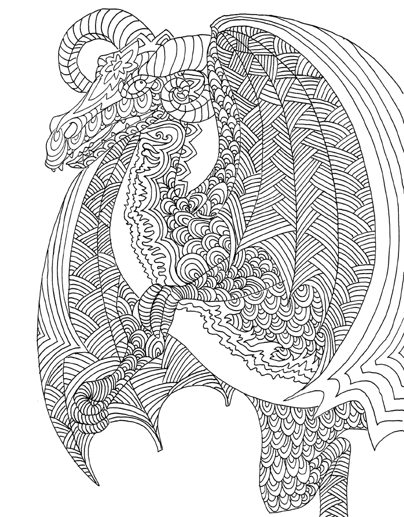 A Fantastical Journey Awaits He Who Dares Venture Into Zendoodle Coloring Majestic Dragons Inside Youll Find Yourself Surrounded By Grand Awe Inspiring