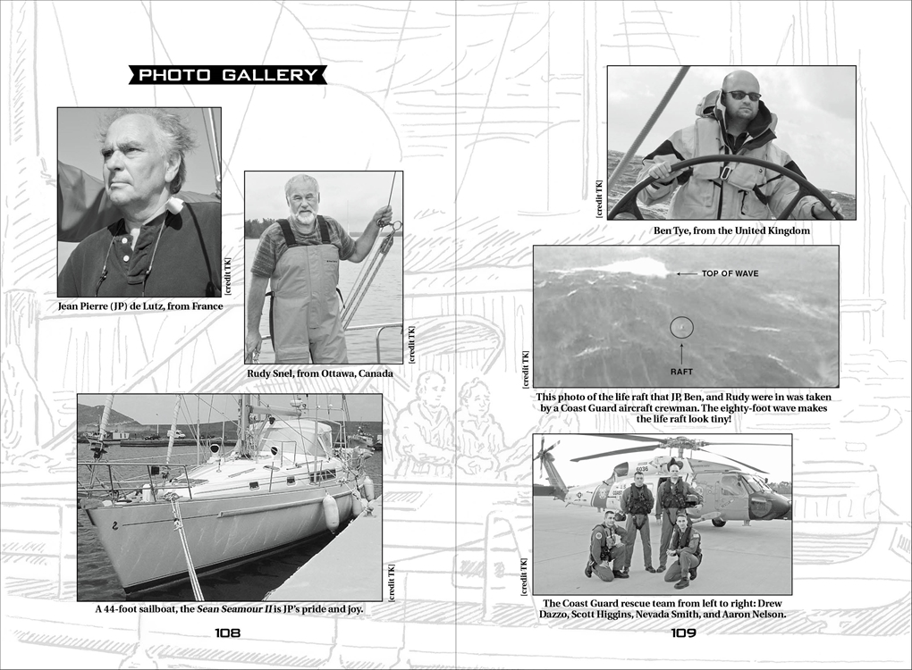 Interior book image for True Rescue: A Storm Too Soon