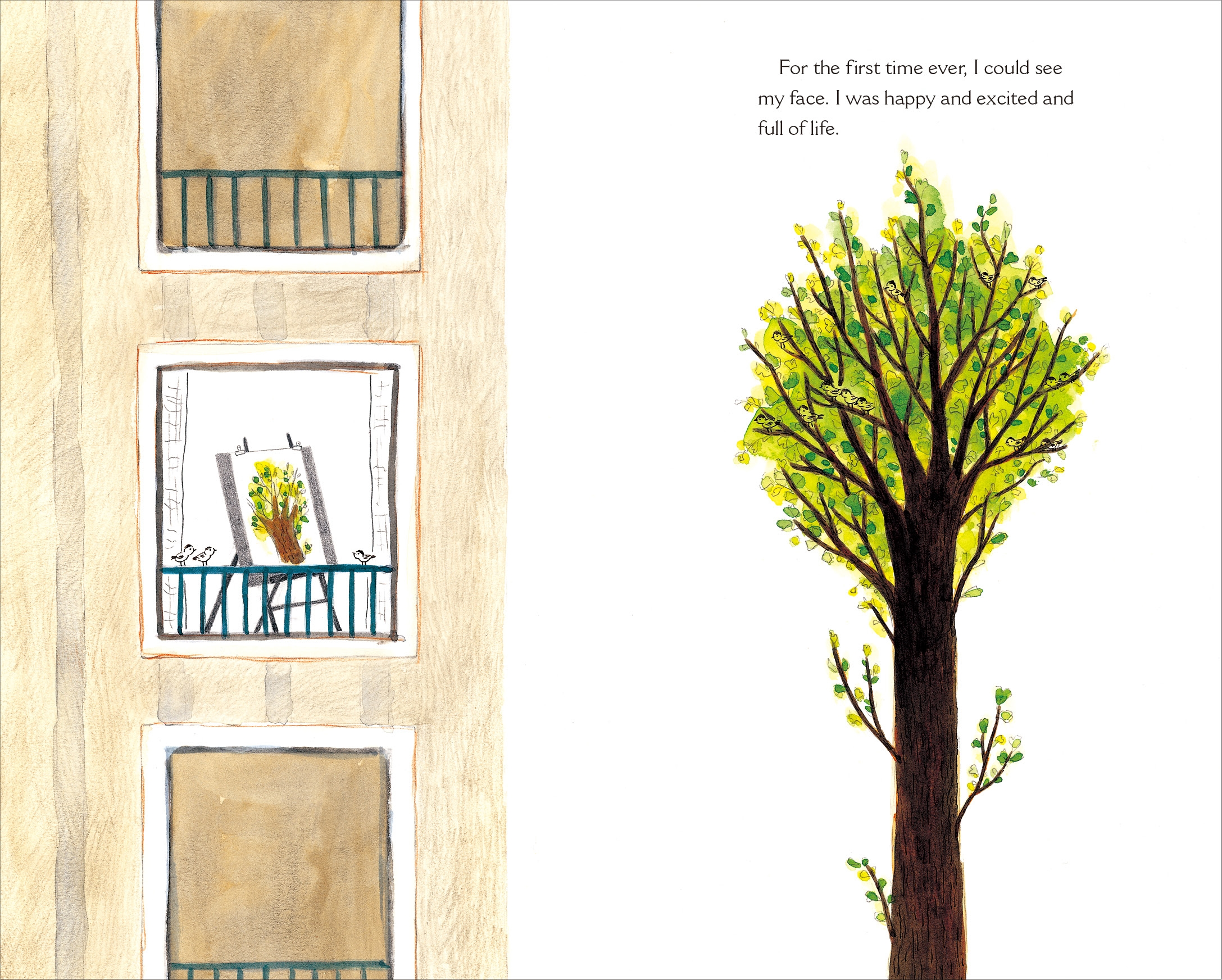 Interior book image for The Happiest Tree: A Story of Growing Up