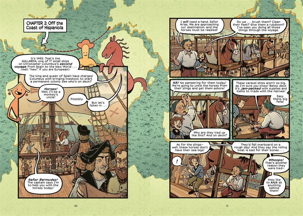 Interior book image for History Comics: The Wild Mustang
