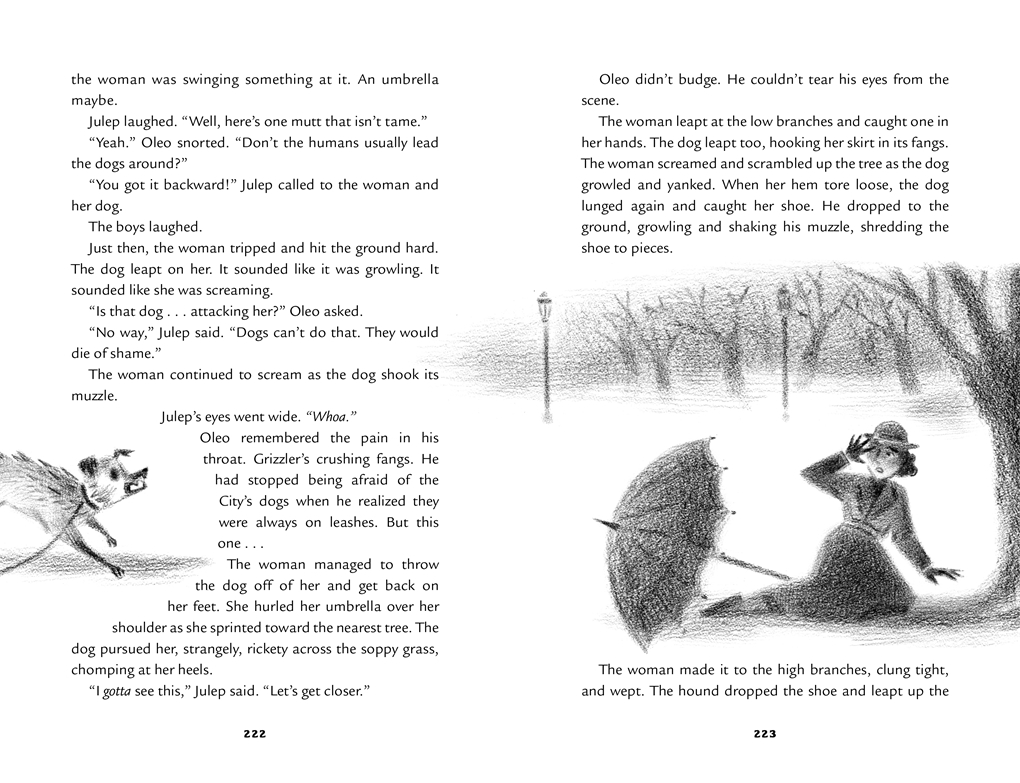 Interior book image for Scary Stories for Young Foxes: The City