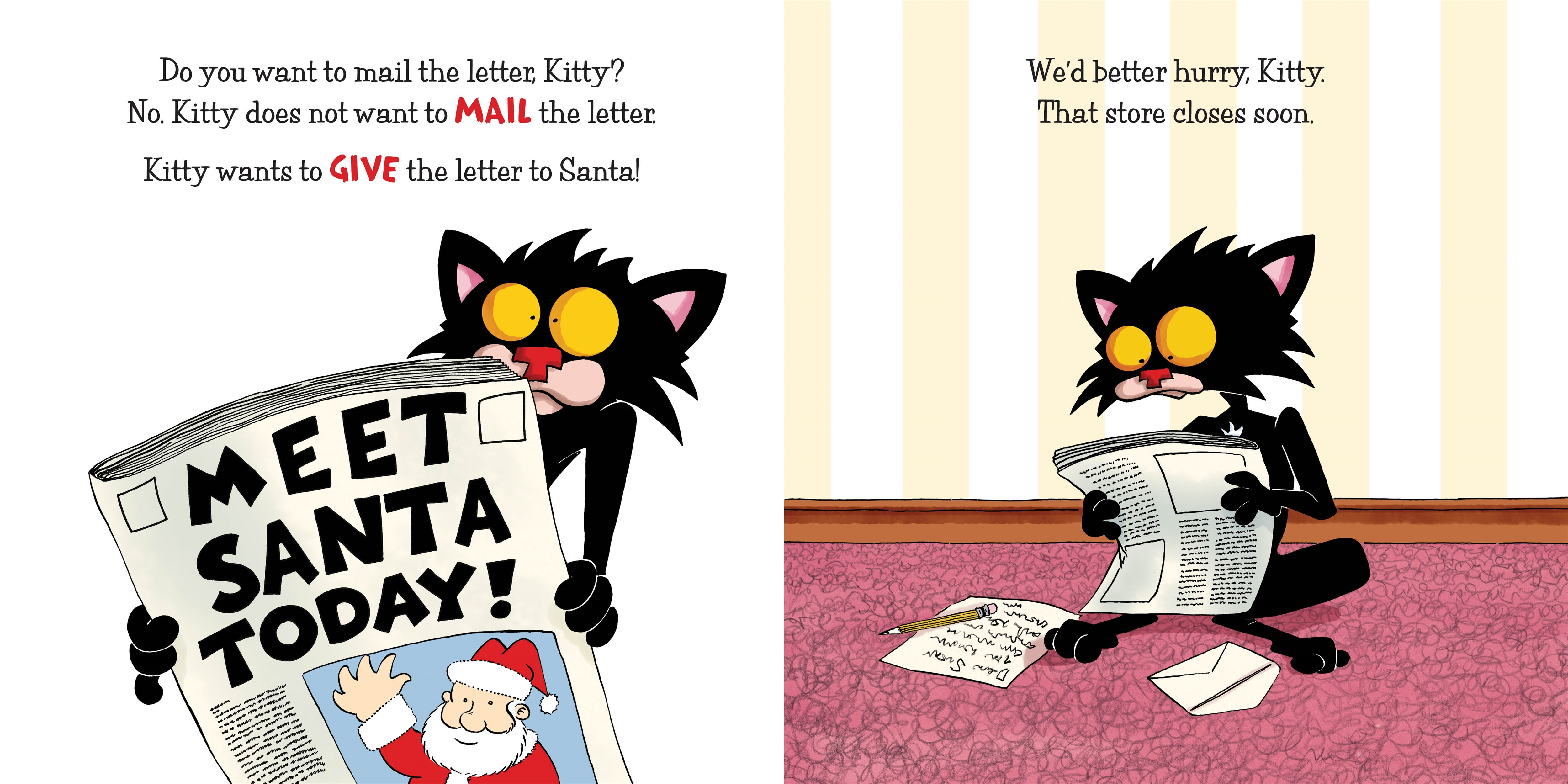 Interior book image for Bad Kitty: Searching for Santa