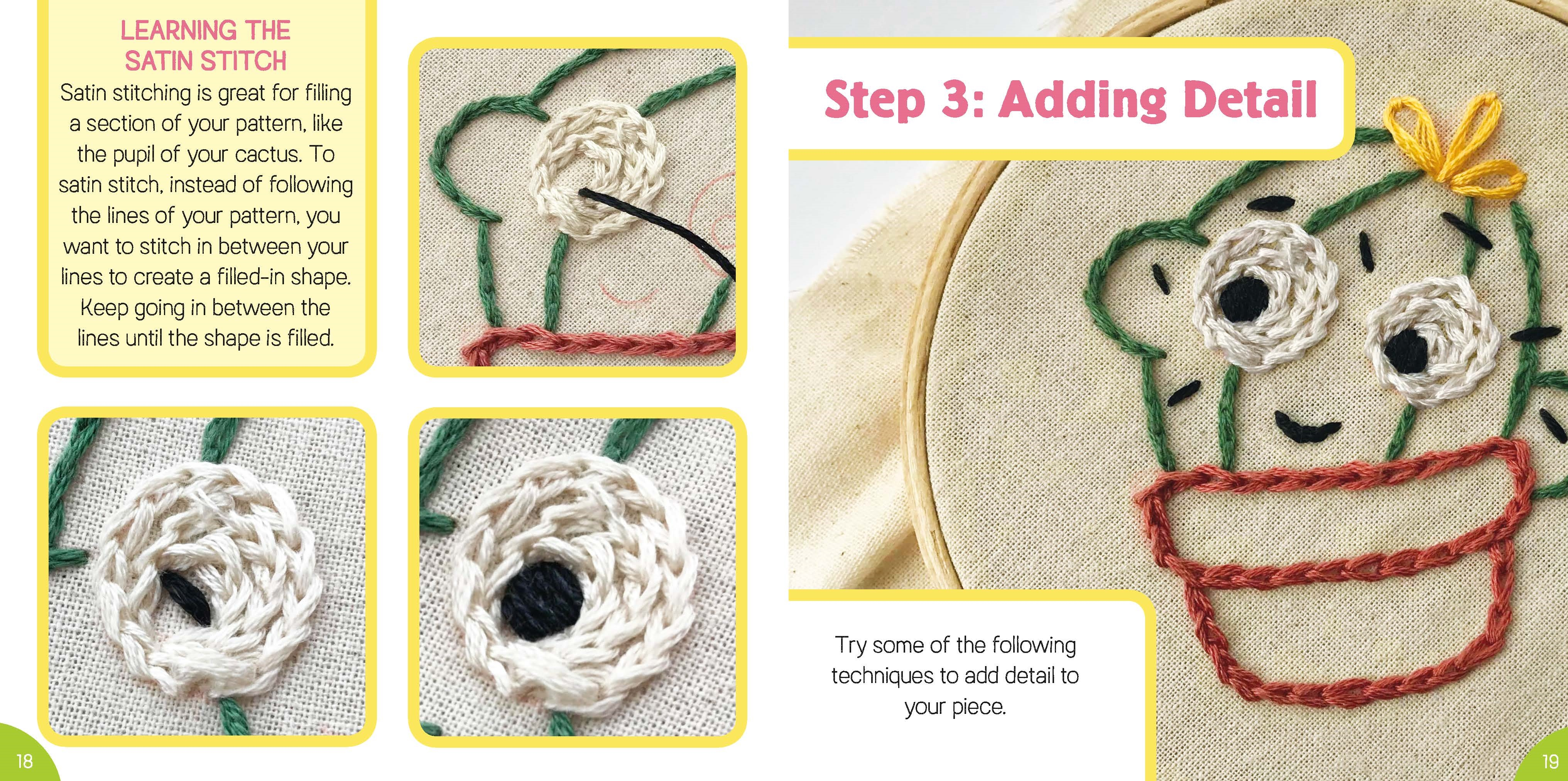 Interior book image for Tiny World: Embroidery!
