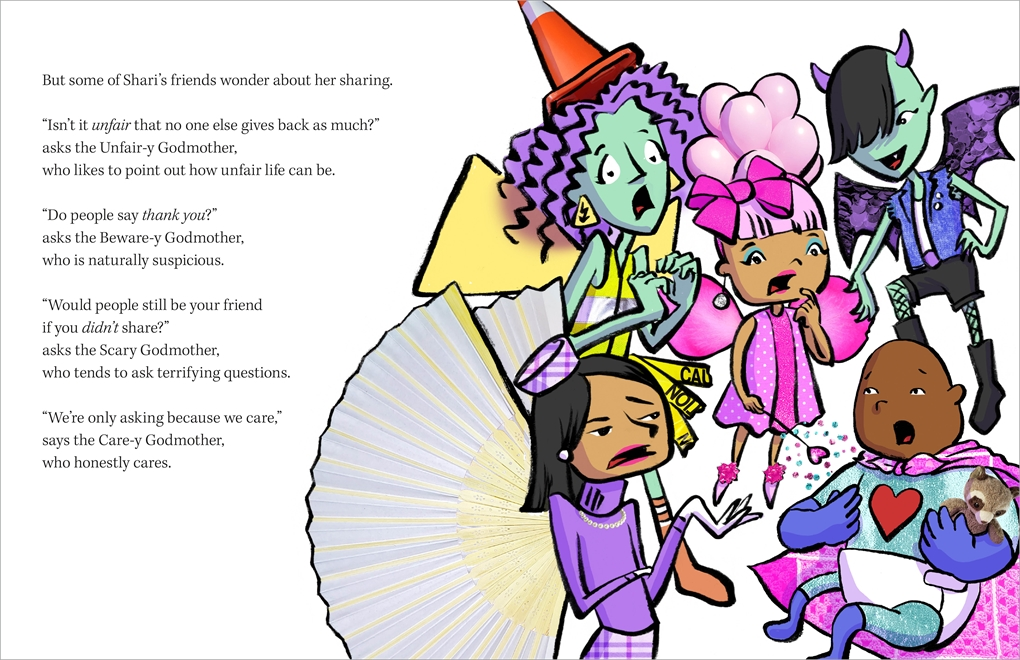 Interior book image for The Sharey Godmother