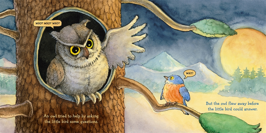 Interior book image for The Lost Little Bird
