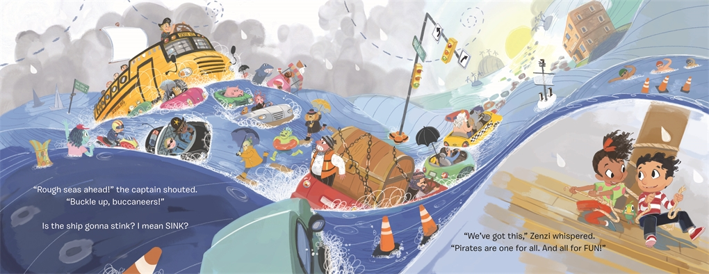 Interior book image for It's Not a School Bus, It's a Pirate Ship