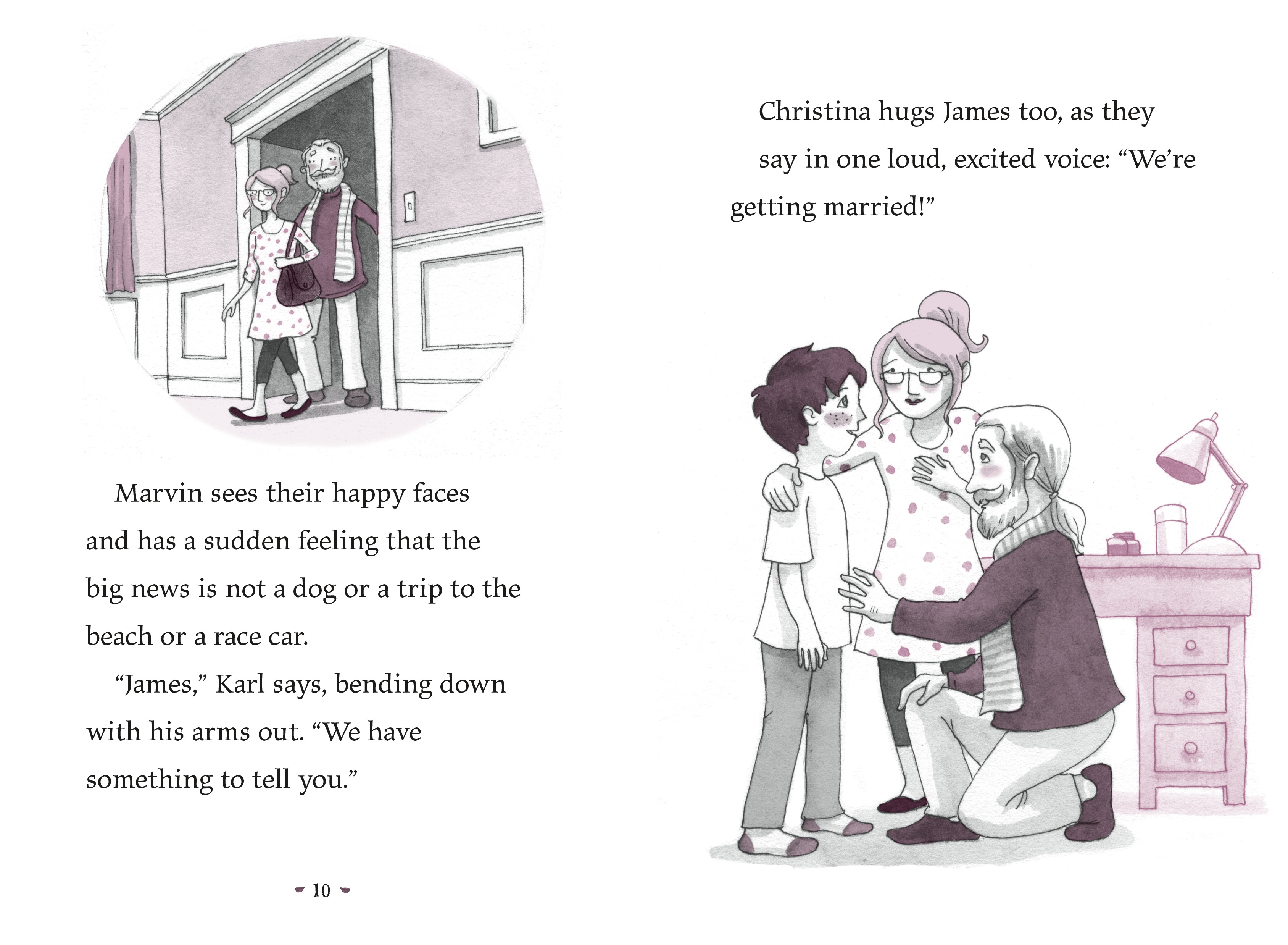 Interior book image for Marvin & James Save the Day and Elaine Helps!