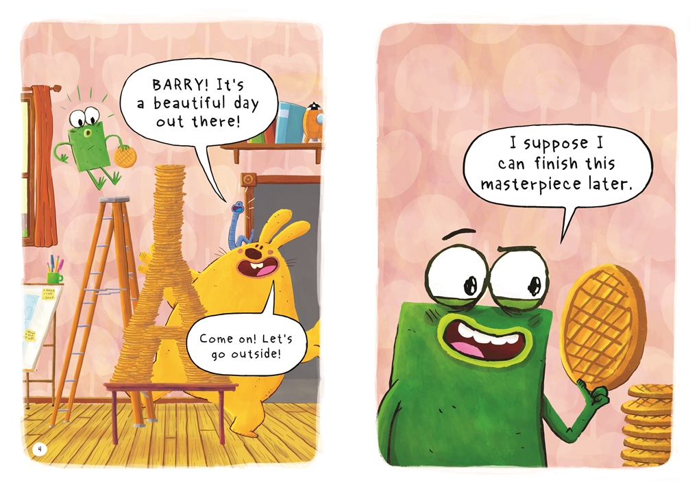 Interior book image for Blue, Barry & Pancakes