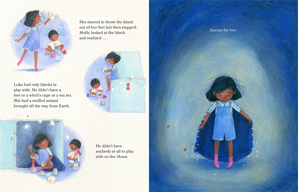 Interior book image for Molly on the Moon