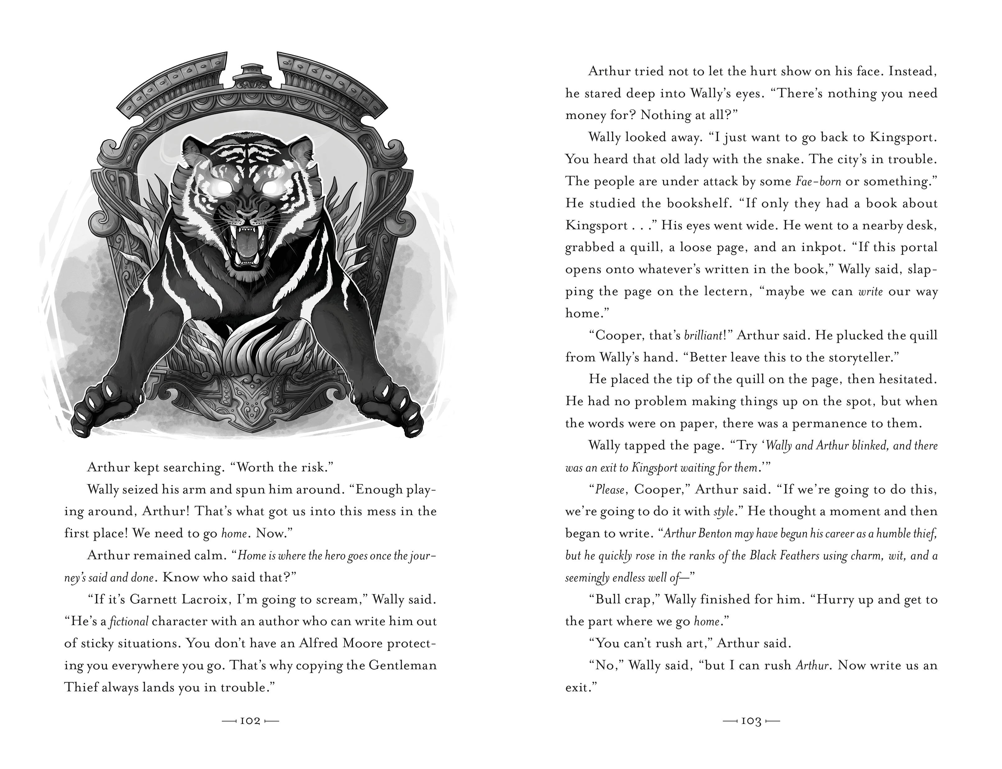 Interior book image for Thieves of Weirdwood