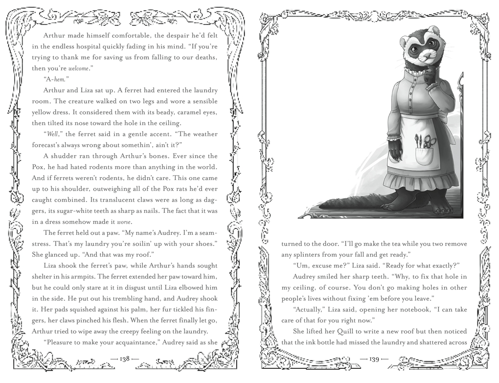 Interior book image for Ghosts of Weirdwood
