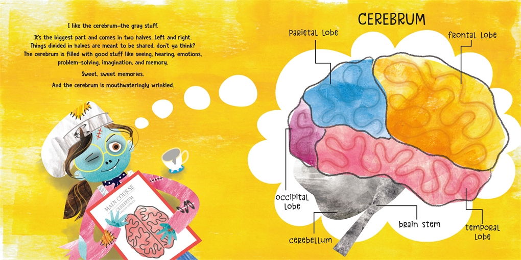 Interior book image for Brains! Not Just a Zombie Snack