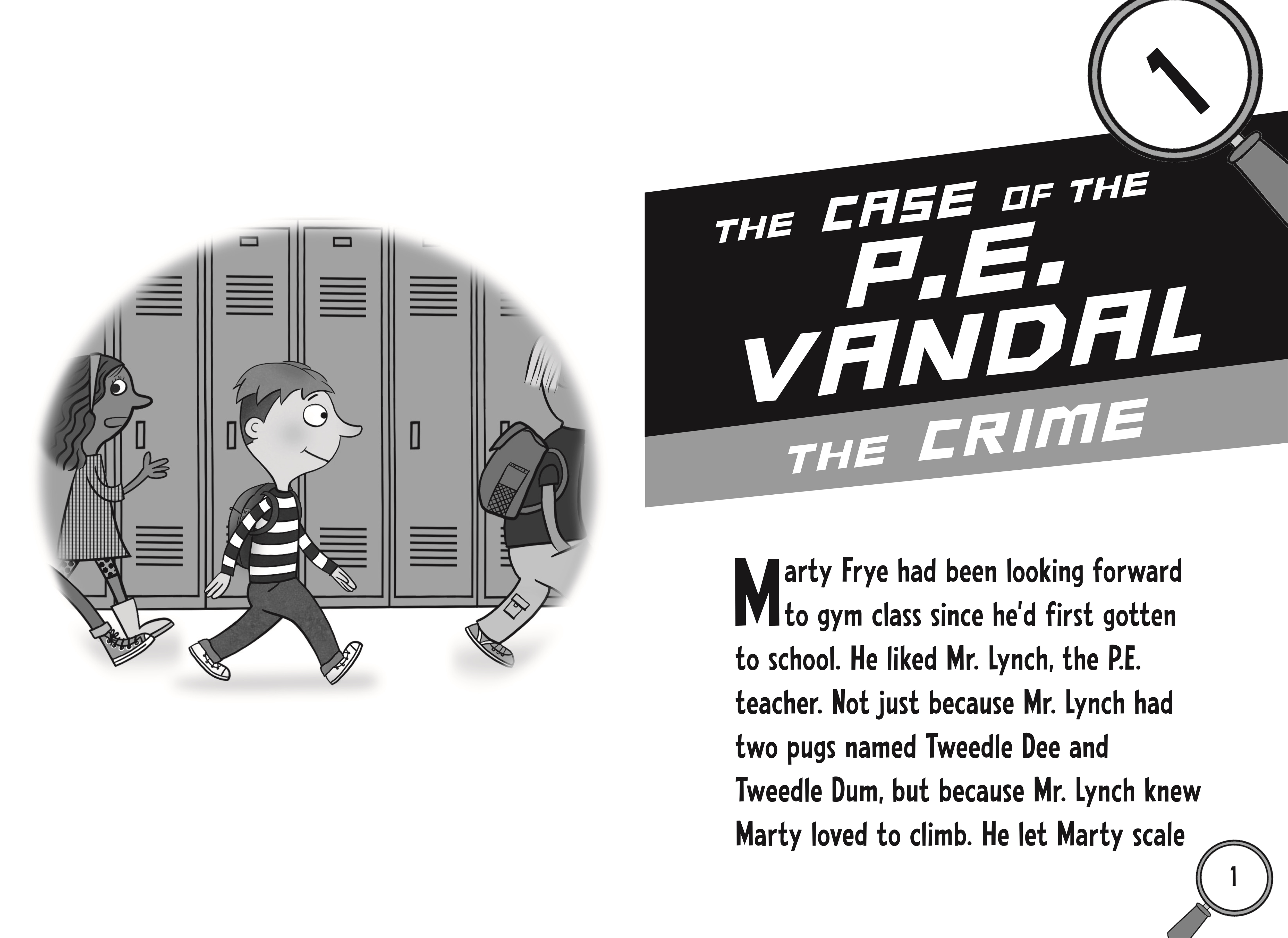 Interior book image for Marty Frye, Private Eye: The Case of the Busted Video Games & Other Mysteries