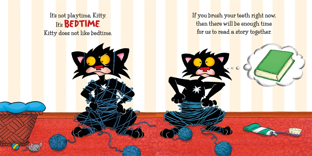 Interior book image for Bedtime for Bad Kitty