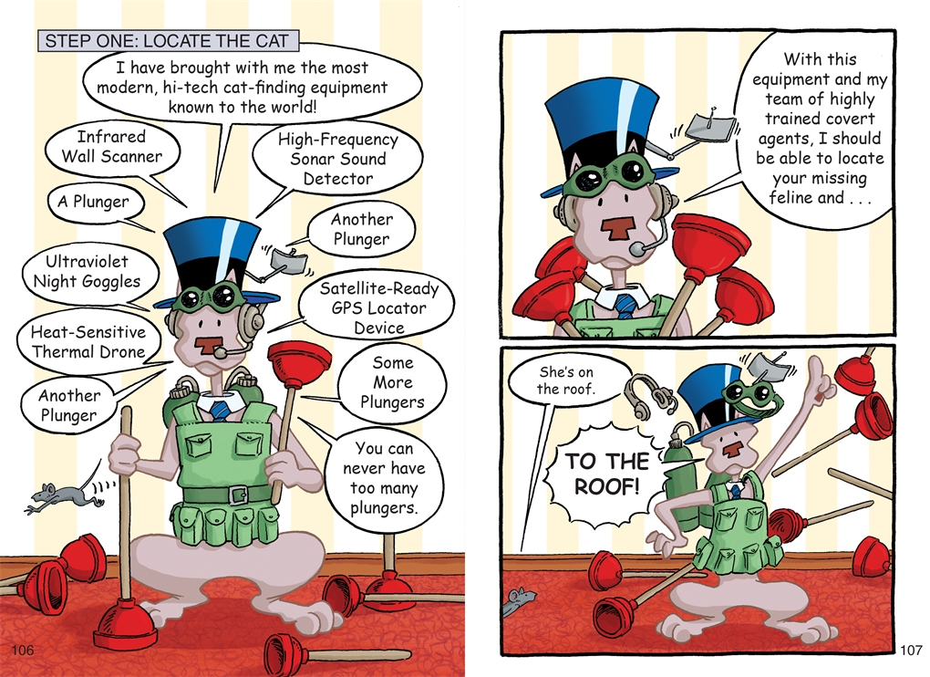 Interior book image for Bad Kitty Gets a Phone (Graphic Novel)