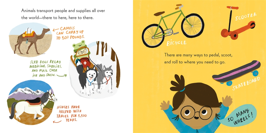 Interior book image for Nerdy Babies: Transportation