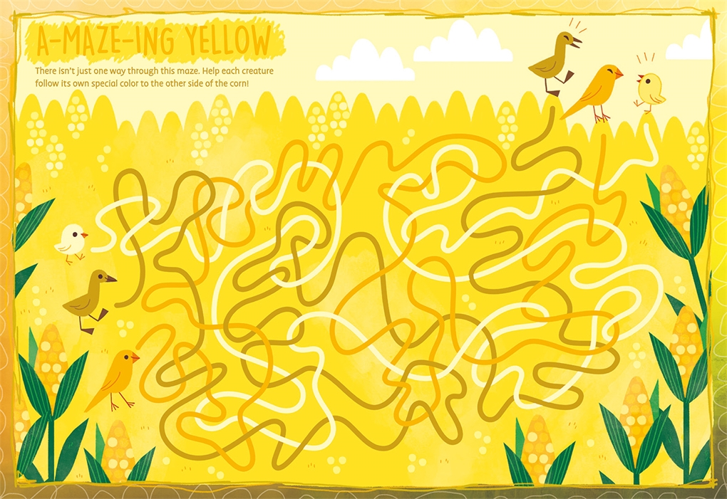 Interior book image for My Favorite Color Activity Book: Yellow