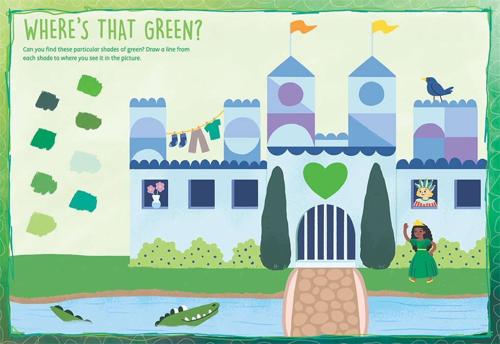 Interior book image for My Favorite Color Activity Book: Green